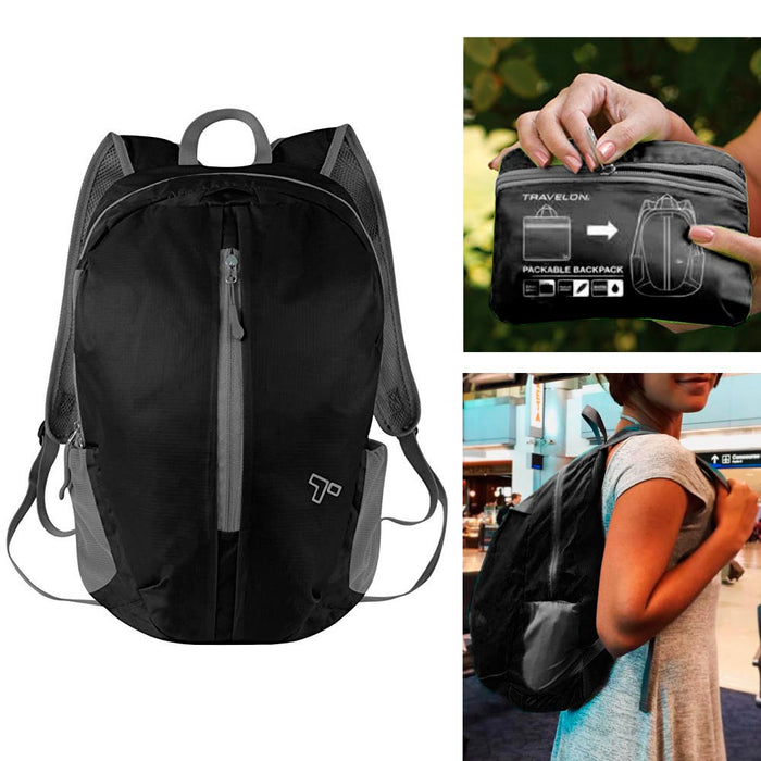 Travelon Packable Backpack Light Backpacking Travel RFID Blocking Bag Back Pack