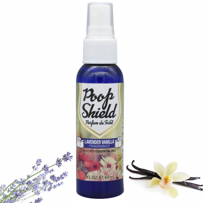 3 Pc Lavender Vanilla Toilet Air Freshener Poop Spray Bathroom Odor Removal 2oz