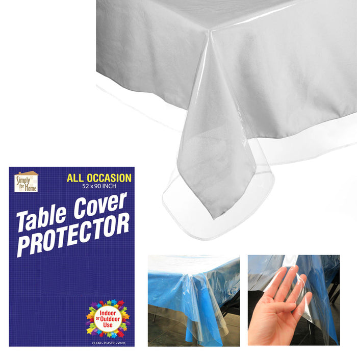 5 Pack Crystal Clear Vinyl Tablecloth Protector Table Cover High Quality 52X90