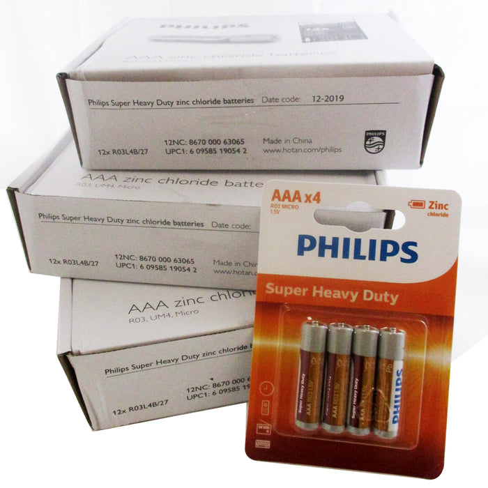 500 Pc Bulk Wholesale Philips AAA Batteries R303 Battery Toys Remote Exp 2022