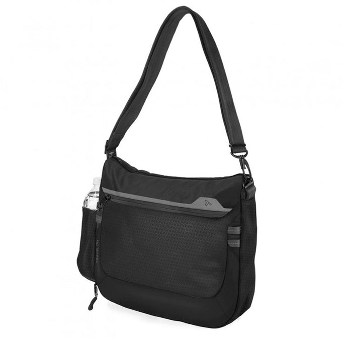 Travelon Crossbody Bag Anti-Theft Active Medium Black RFID Blocking Adjustable