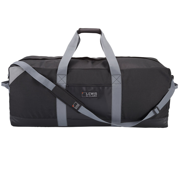 "36"" Black Heavy Duty Duffel Bag Neoprene Waterproof Gear Luggage Suitcase Medium"