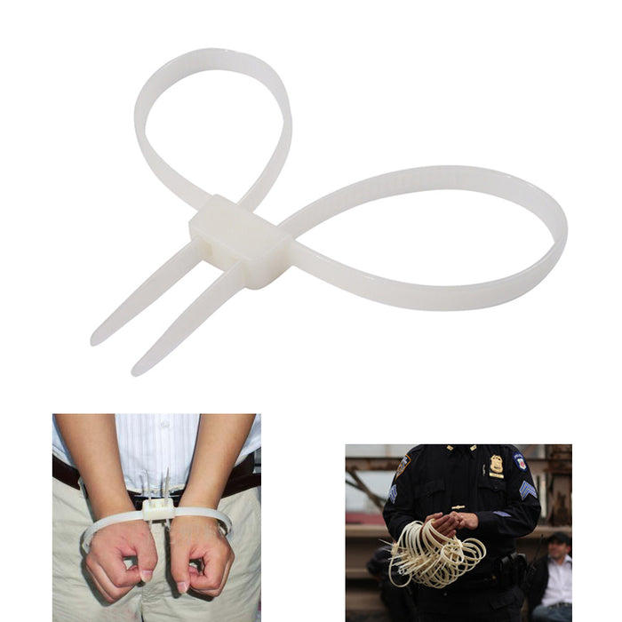 "20 PC Plastic Zip Tie 27"" Handcuffs Police Riots Emergency Restraint Survival !"
