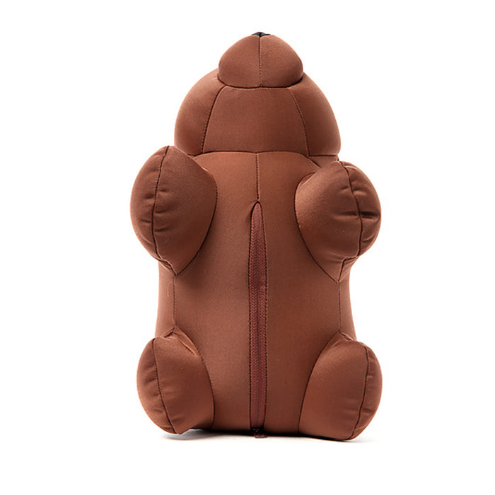 1 Kikkerland Zip and Flip Bear Brown Travel U Neck Pillow Brown Compact Portable