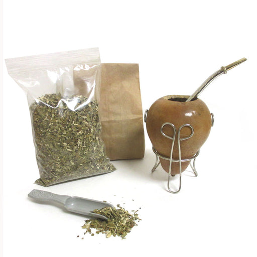 4Pc Yerba Mate Gourd Kit Bombilla Set Argentina Tea Cup Straw 6oz Leaf Pack 0077