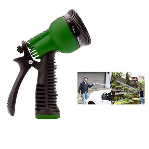 1 Garden Hose Nozzle Water Sprayer 7 Spray Patterns Pressure Streams Rubber Grip