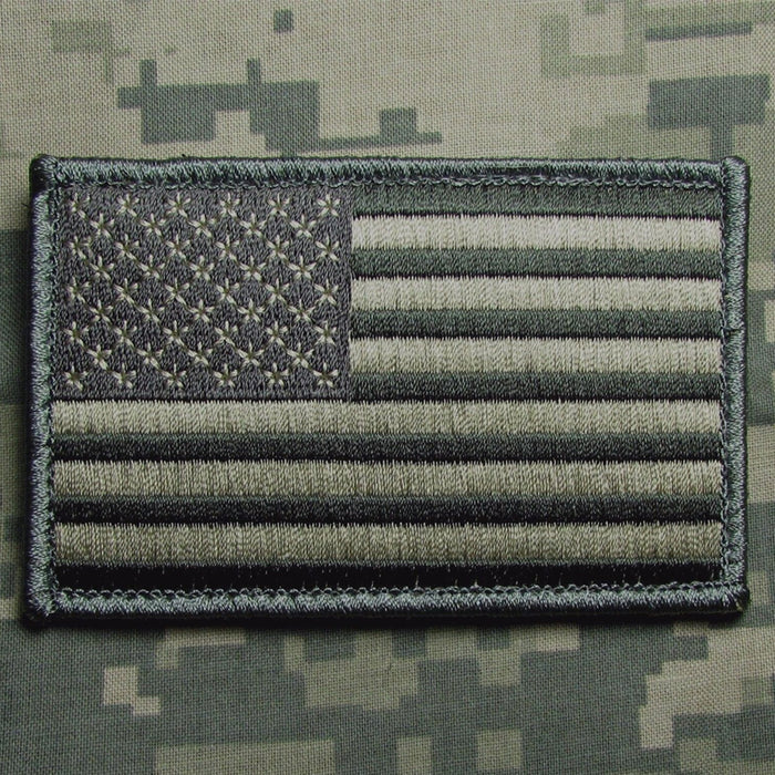 1 USA AMERICAN FLAG TACTICAL US ARMY MORALE MILITARY BADGE ACU LIGHT HOOK PATCH