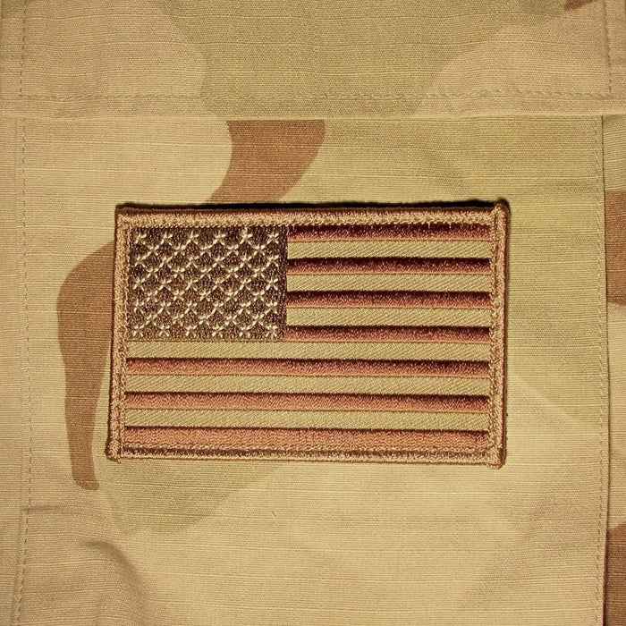 1 USA AMERICAN FLAG TACTICAL US MORALE MILITARY DESERT FASTEN PATCH EMBLEM