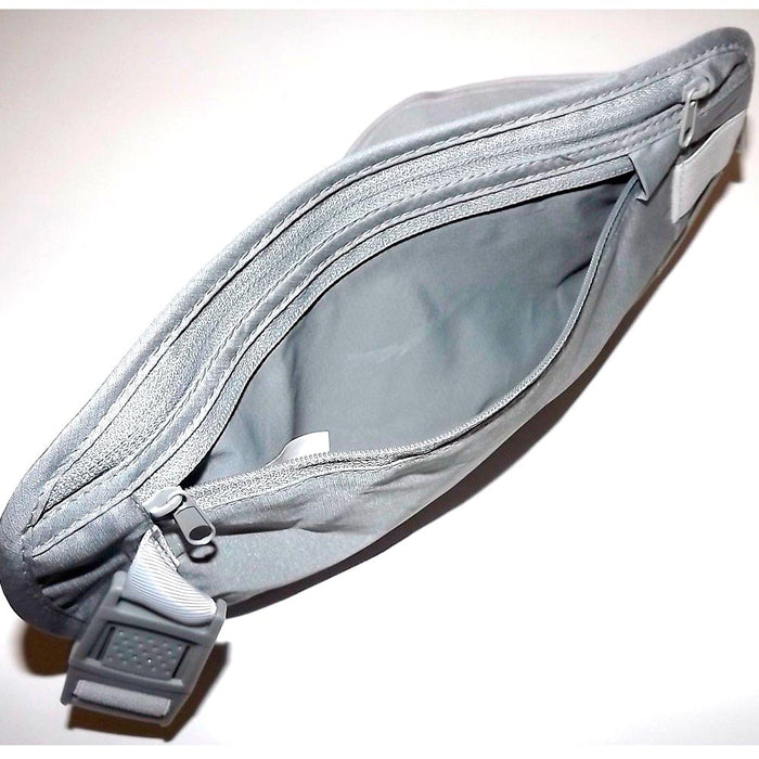 Travelon Undercover RFID Blocking Nylon Travel Waist Pouch Fanny Pack Grey New !