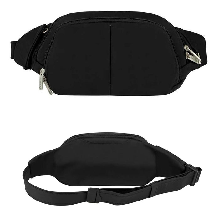 Travelon Anti Theft Slim Waist Pack RFID Blocking Travel Pouch Fanny Pack Black