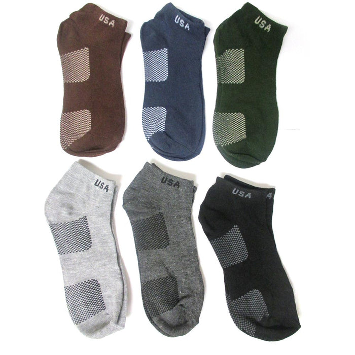 12 Pair Men Women Sport Ankle Quarter Socks Crew Usa Spandex Dress Ped Size 9-11