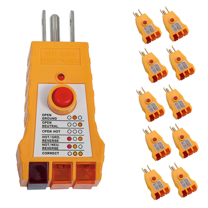 Peachy 10 Gfi Electric Outlet Plug Receptacle Circuit Tester Analizer Home Wiring Digital Resources Lavecompassionincorg