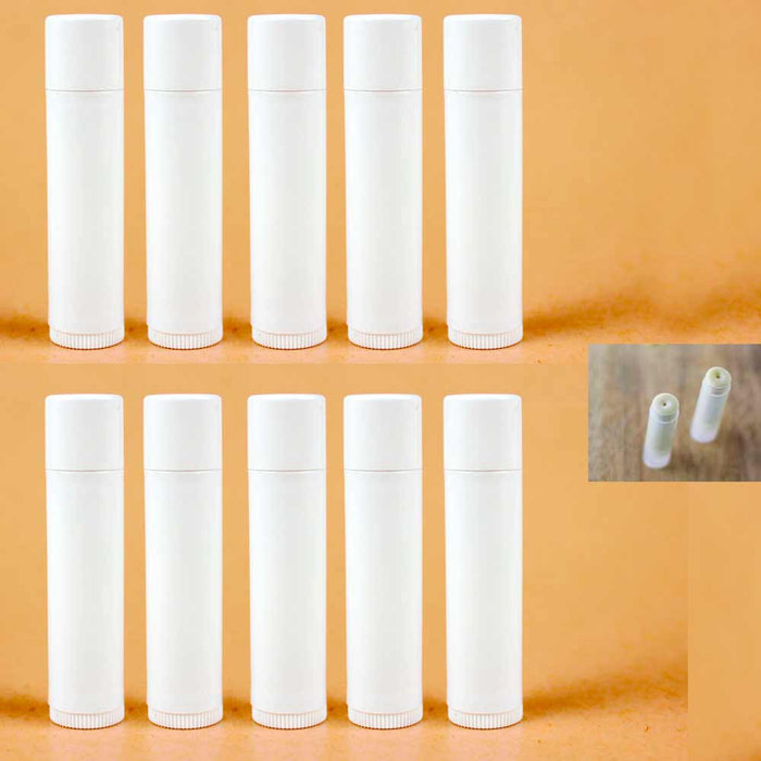 100 Pcs Empty Lipstick Lip Balm Container Tube Case Caps Jars Chapstick BPA Free