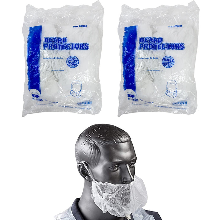 200 Pcs Disposable Beard Cover Hair Net Latex Free Cooking Protection Kitchen