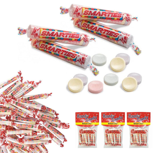 3 Bags Smarties Originals Tabs Classic Candy Rolls Party Favors Wrapped Candy