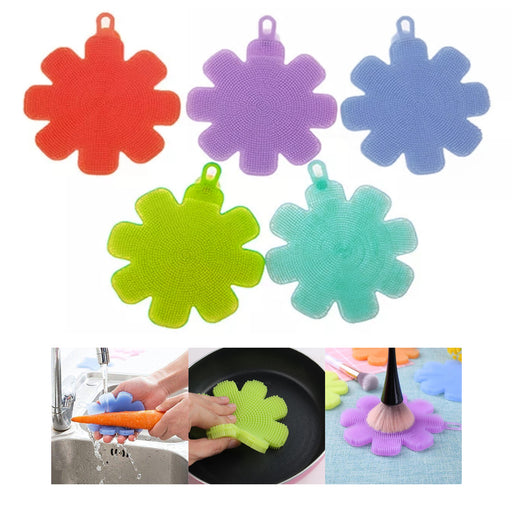 3 X Silicone Brush Wash Cleaning Brush Tool Sponges Scouring Pad Face Exfoliator