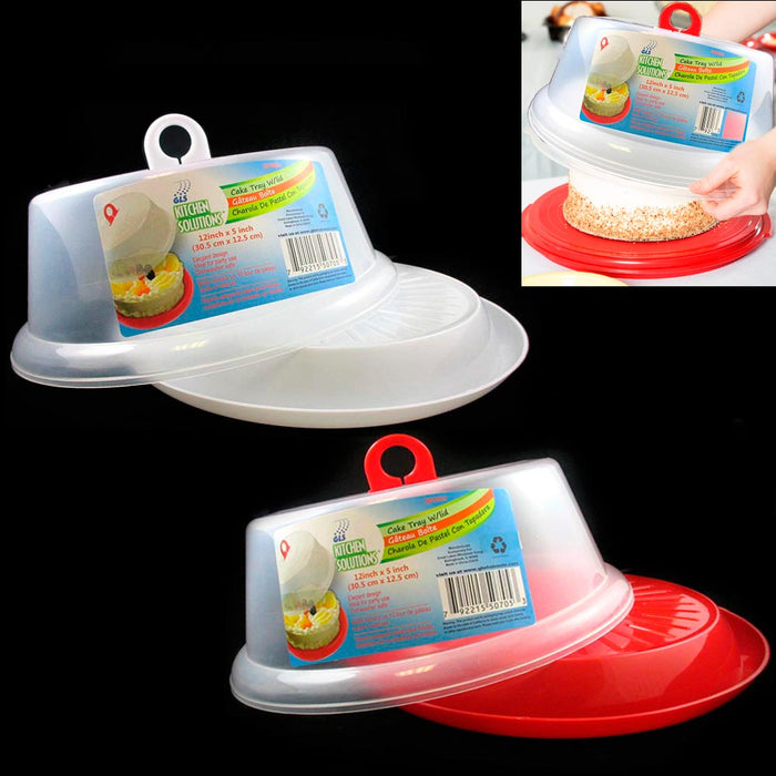 2 Sets Cake Tray Container Cover Pie Dessert Hold Lid Pastry Plate Stand Serving