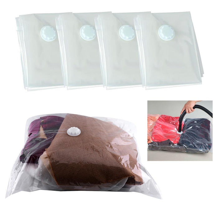 4 Pack Space Saver Saving Storage Bag Vacuum Seal Compressed Organizer Travel