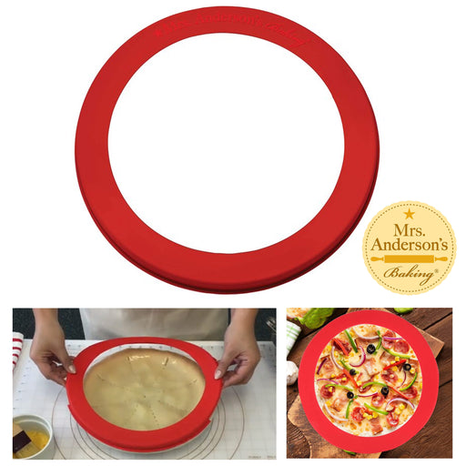 "1 Pc Silicone Pie Crust Shield Baking Fits 9.5"" to 10"" Reusable Pan Frozen Pizza"