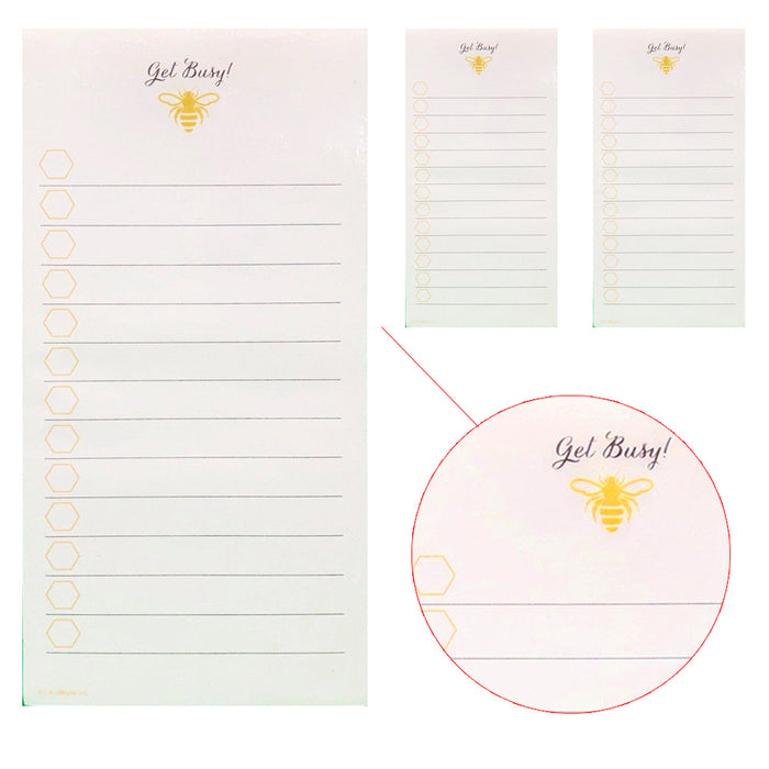 3 X Magnetic To Do Lists Note Pads Memo Notepad Stick To Fridge Grocery Shopping