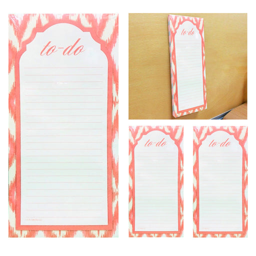 3 X Magnetic To Do Lists Note Pads Grocery Shopping Memo Notepad Stick To Fridge