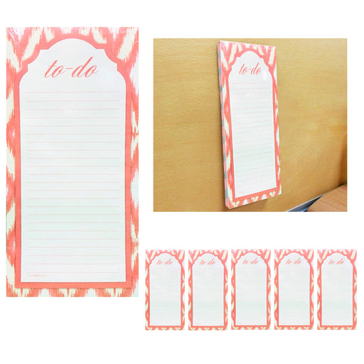 6 X Magnetic To Do Lists Note Pads Grocery Shopping Memo Notepad Stick To Fridge