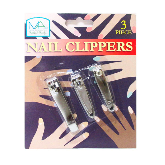 6 Nail Clippers Stainless Steel Fingernails Trimmer Toenails Manicure File Set