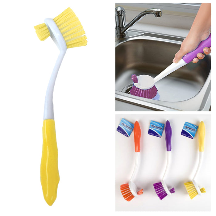 1 X Kitchen Scrub Brush Sink Dish Washing Vegetable Scrubber Multi Purpose Clean