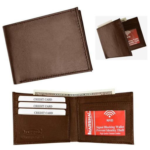 1 RFID Blocking Men Leather Bifold Wallet Removable ID Card Passcase Credit Card