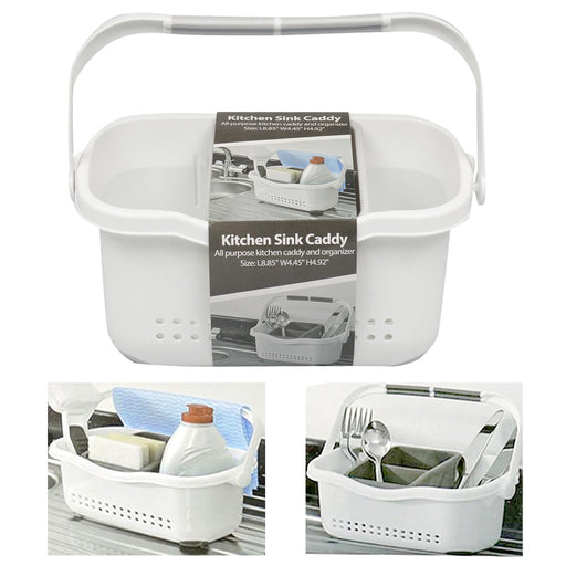 1 Kitchen Sink Caddy Sponge Holder Storage Organizer Soap Drainer Rack Strainer