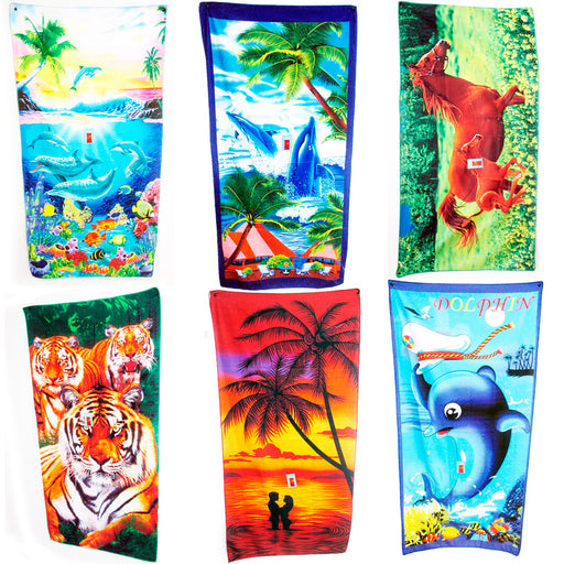 1 Jumbo Beach Pool Bath Towel Swim Absorbent Microfiber Drying Washcloth Shower