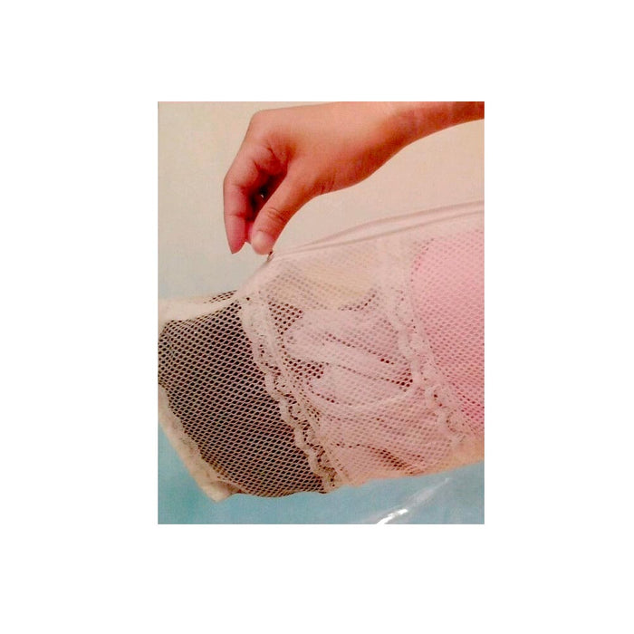 2 Washing Mesh Bags 4 Zip Compartments Socks Bra Laundry Underwear Lingerie Wash