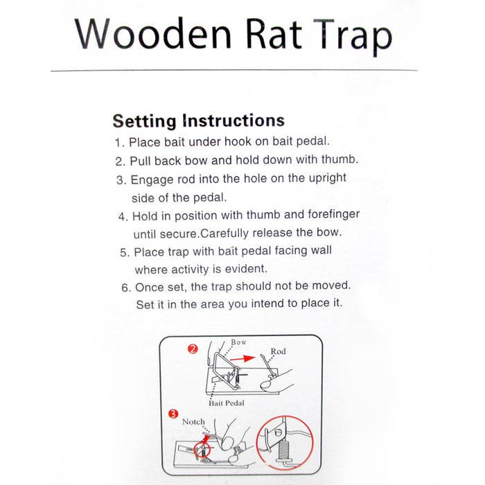6 Rat Mouse Snap Trap Reusable Old Fashion Spring Pedal Rodent Pest Control Wood