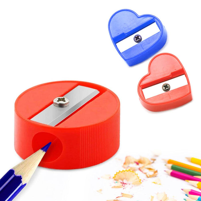 72 PCS Manual Pencil Sharpener Assorted Shapes Plastic Colored Art Supplies Kids