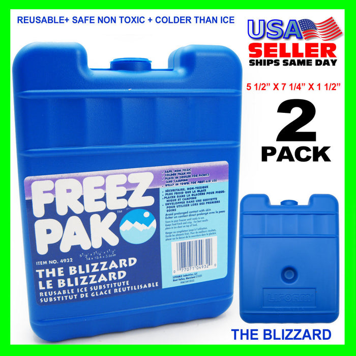 2 Blizzard Reusable Cold Ice Gel Compress Pack Instant Pain Cool Therapy Camping