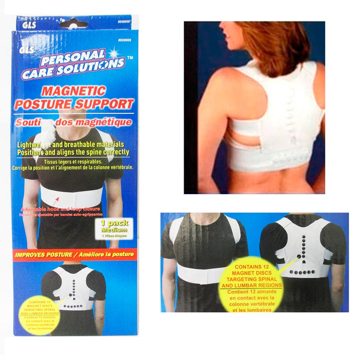 Magnetic Posture Support Corrector Brace Therapy Comfort Shoulder Back Relief M