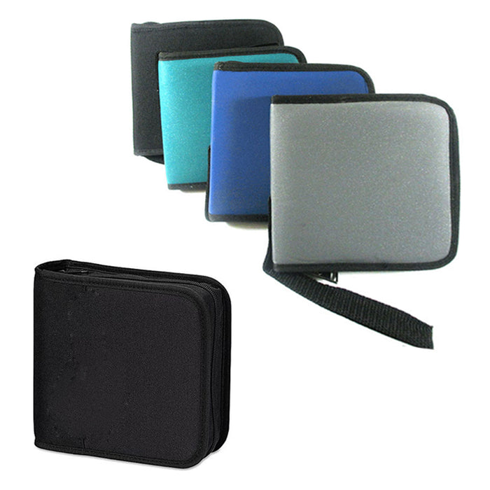 2 Pc CD Case Portable DVD Discs Wallet Holder Bag Album Organizer Media Storage