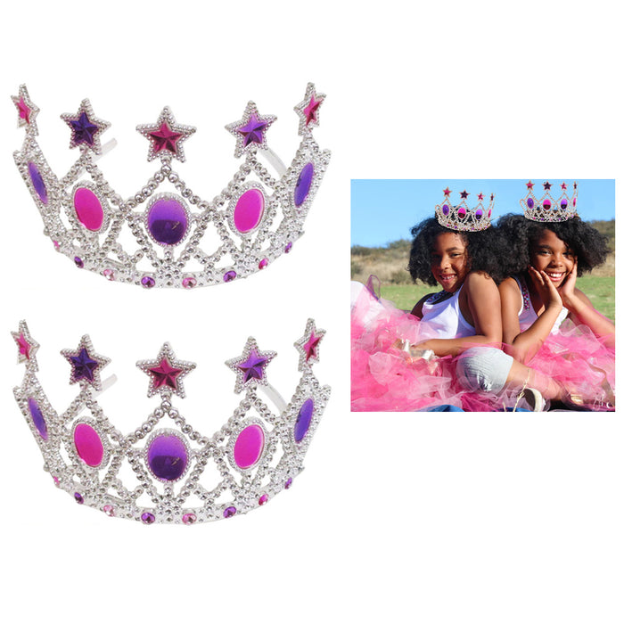 2 Pc Children Girls Kids Cosplay Crown Princess Dress Costume Magic Party Toy