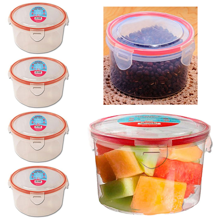 4 Meal Prep Plastic Food Storage Containers Microwavable Tight Locking Lids 20oz