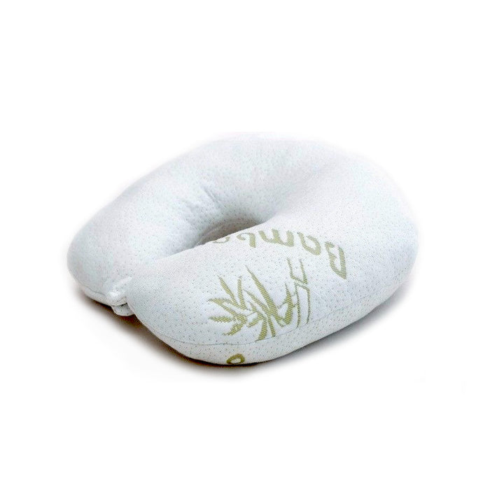 Travel Bamboo Pillow Memory Foam Neck Support Comfort Rest Airplane U Shaped