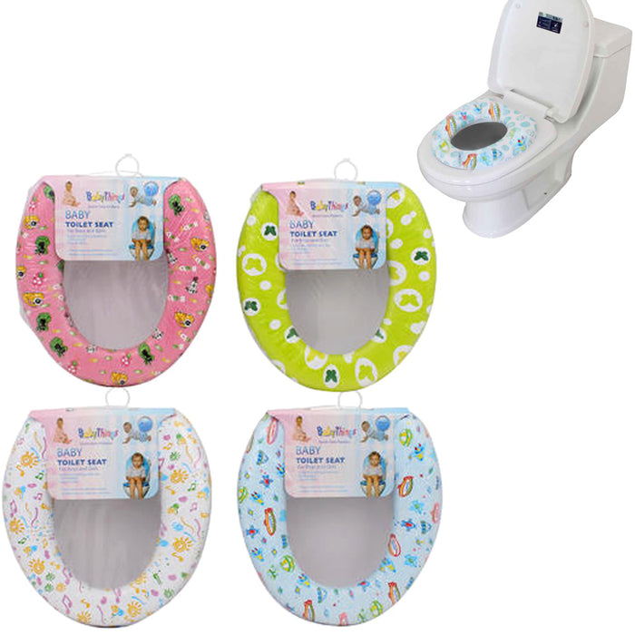 1 Baby Toilet Seat Potty Cushion Training Soft Padded Cover Trainer Toddler New