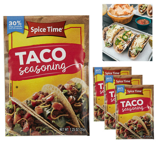 3 Taco Seasoning Mix Premium Quality Spices Season Meat Beef Turkey Spice Time