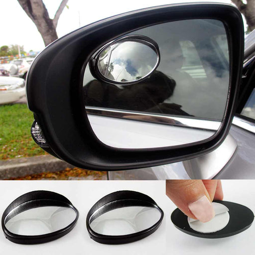 2 Car Blind Spot Mirror Vehicle Driver Wide Oval Angle Convex Auto Rear View !