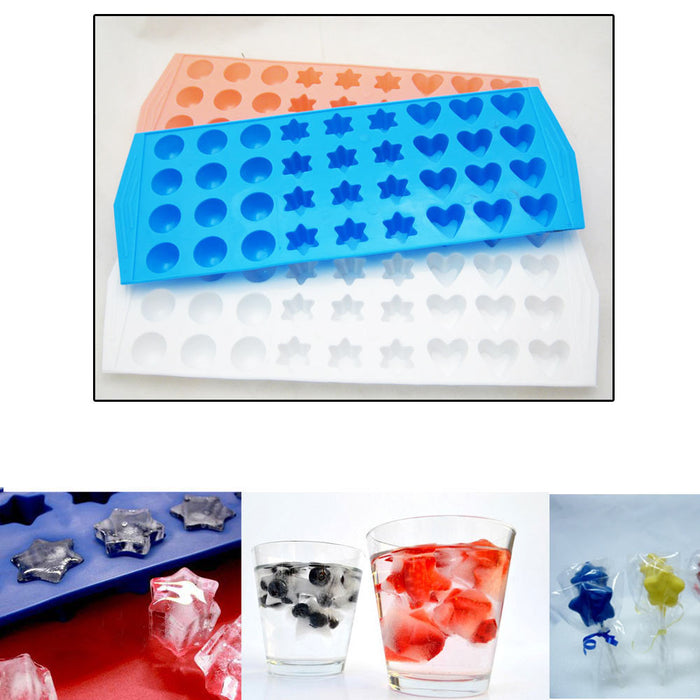 Lot 3 Mini Ice Cube Trays Makes 108 Home Bar Drinks Jelly Cubette Candy Mold Fun