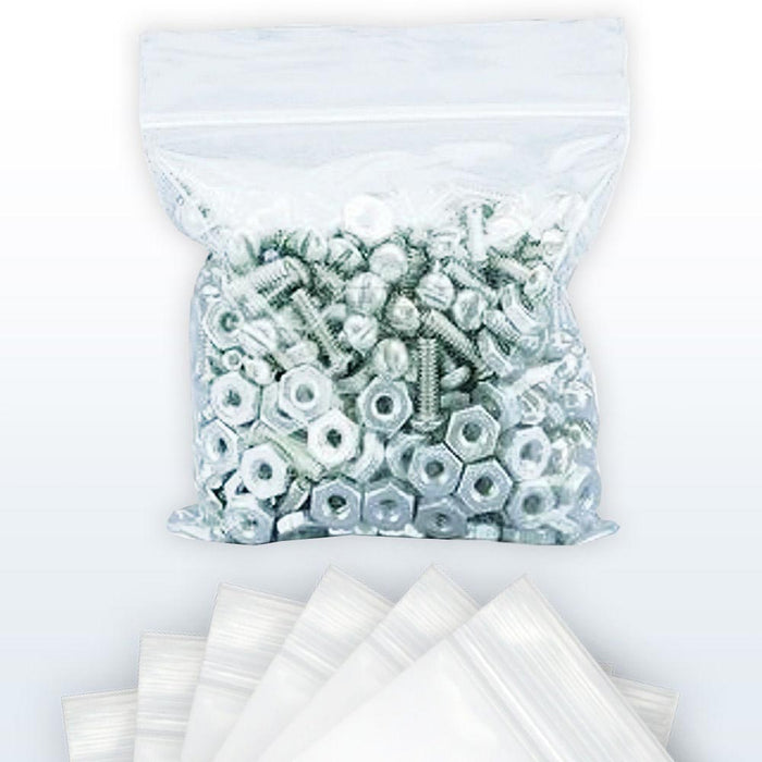 100 Ct 8?ǥ X 10?ǥ 2Mil Clear Plastic Reclosable Zip Poly Bags Resealable Lock Seal