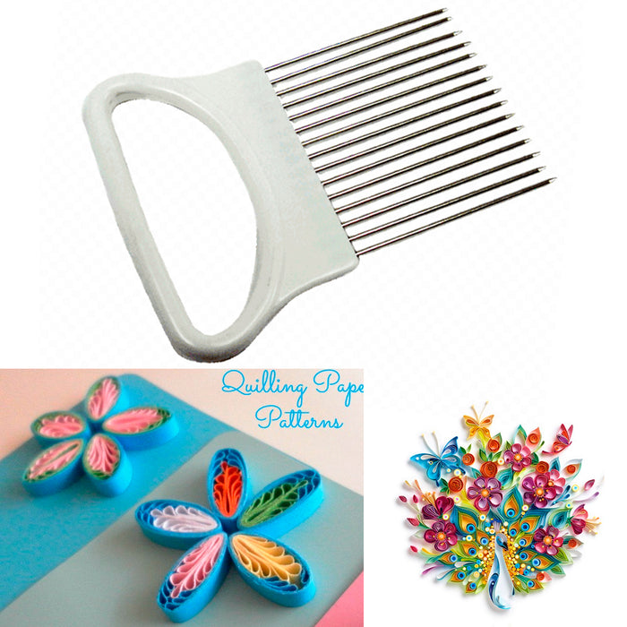 Paper Quilling Comb Pick Onion Slicer Tool Craft Loops Accessory Supply Hobbies