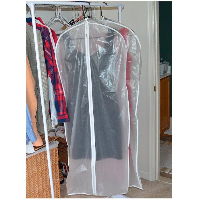 "2 x Dress Garment Storage Bag 53"" Protective Suit Cover Gown Storage Dust Travel"