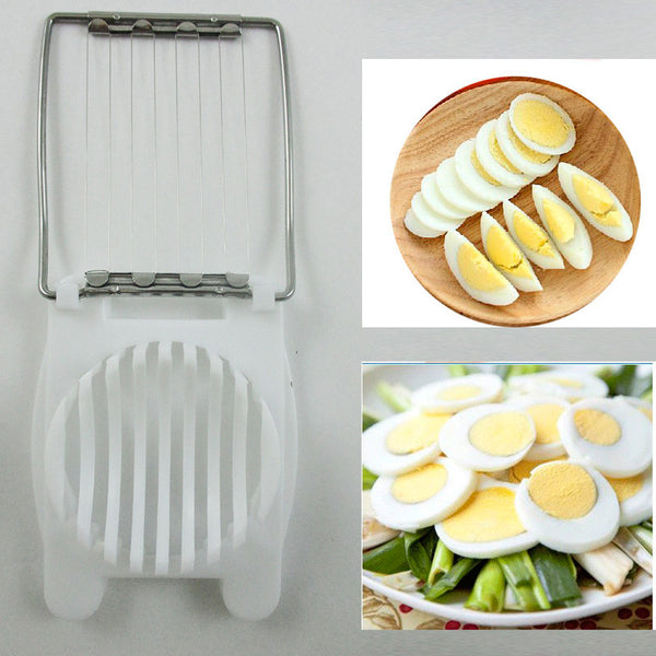Boiled Egg Slicer Tool Mushroom Kitchen Cutter Cheese Mold Tool Cut Sectioner !!