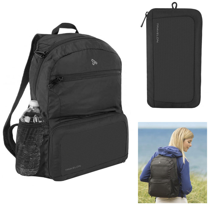 Travelon Anti Theft Backpack Water Resistant RFID Traveling Foldable Lightweight