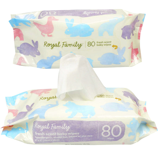 160 Ct Fresh Scent Baby Wipes Diaper Wet Napkin Aloe Hypoallergenic Alcohol Free